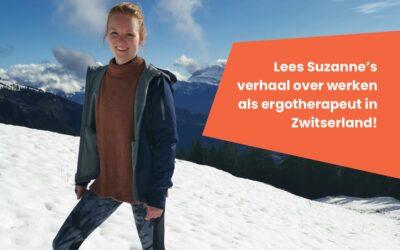 Suzanne van de Wiel, Ergotherapeut in Zwitserland